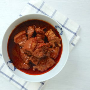 Tamarind Pork Belly Curry (Porku Tambreneu)